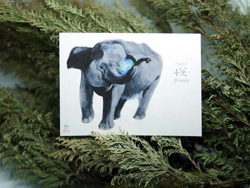 Sumatran Elephant🐘. Endangered Species: Postcard / A card= A donation