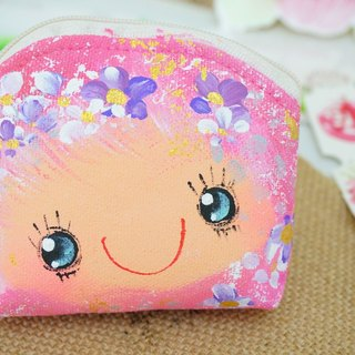 Pure hand-painted purse