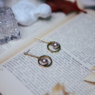 COR-DATE-Minimalism School-Champagne Planetary Around Earrings -550