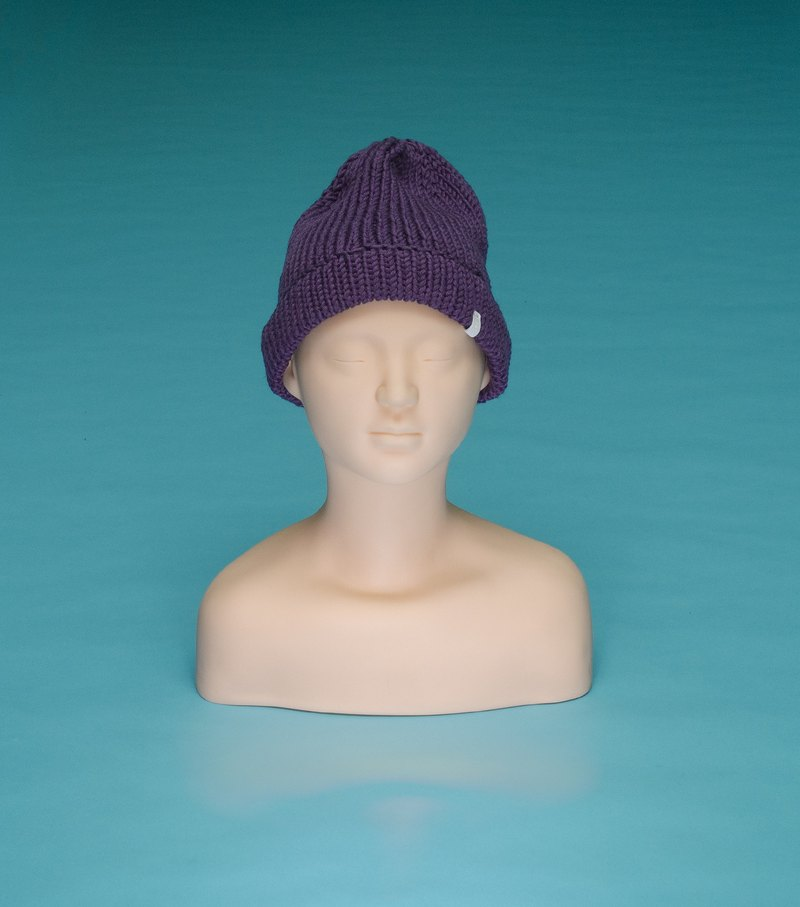 Plain - Purple OTB013 Hand Knitted Cap