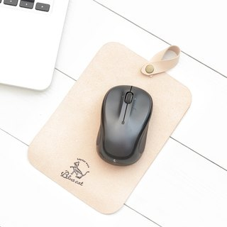 Minimal primary color yak leather suede handmade mouse pad / stamp pad