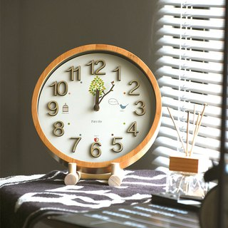 Goody Bag - Forest Park Silent Clock Wall Clock + Wooden Frame Combination Lucky Bag