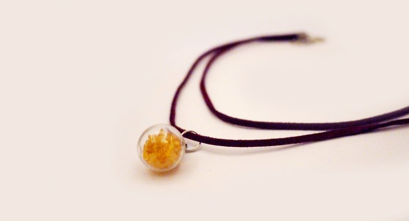 Natural Stone Crystal Ball Double Necklace Necklace