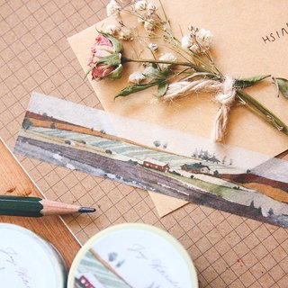 ☁ ☁ chirp Kyrgyzstan watercolor painted paper tape - autumn scenery