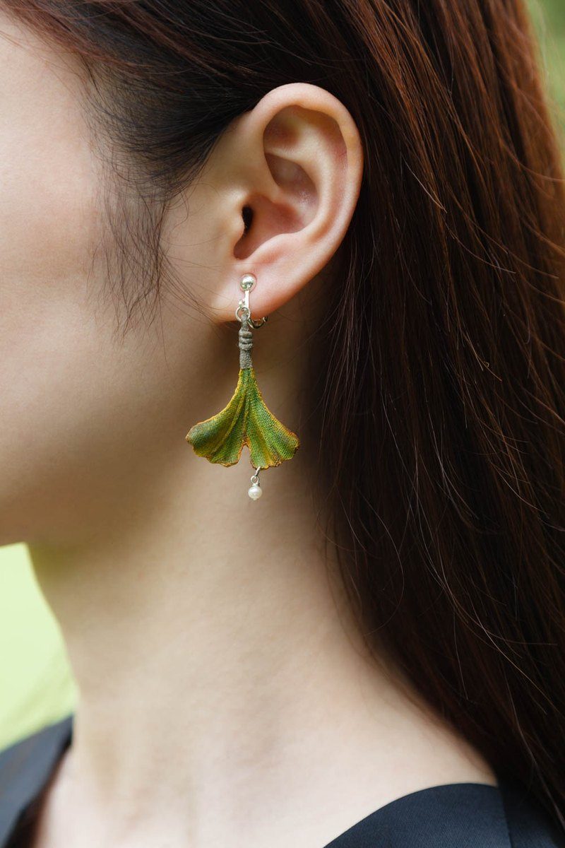 ginkgo leaf shaped earrings