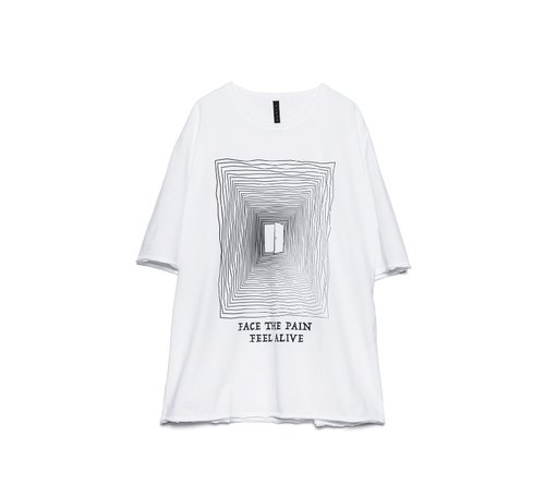 Face the Pain Tee-WHITE