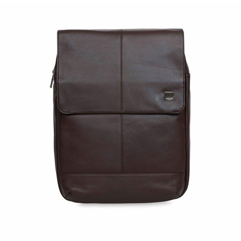 "[Benefits] Hudson 15 ""Leather Backpack (Brown)"