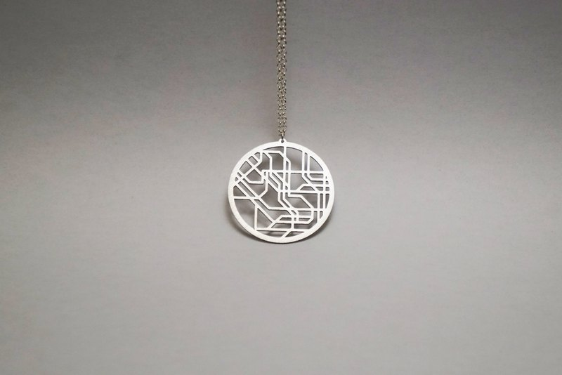 Tokyo Necklace | Metro | Subway | Map Necklace | Abstract | Contemporary | Boxed