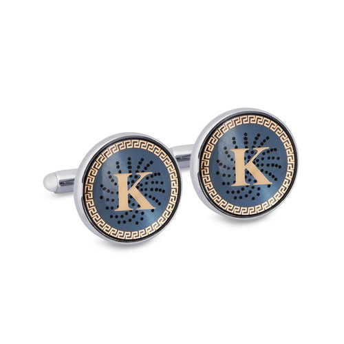"Monogram ""K"" Cufflinks with Lacquer Finish"