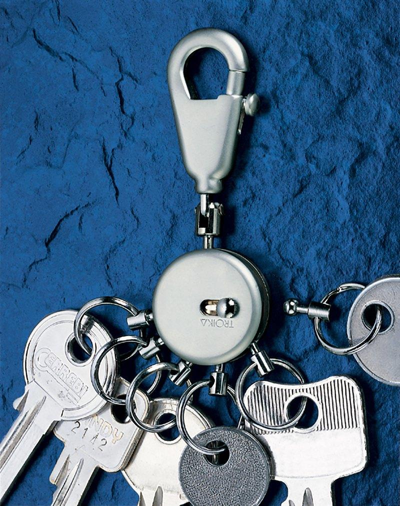 【客製化雷射刻印】不傷手一鍵更換可拆式鑰匙圈(霧鉻色)