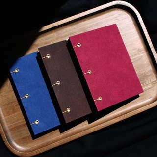 Textured suede hardcover hardcover hand-sewn notebook