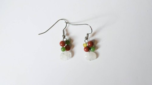 A string of Christmas [heart] X handmade natural stone earrings