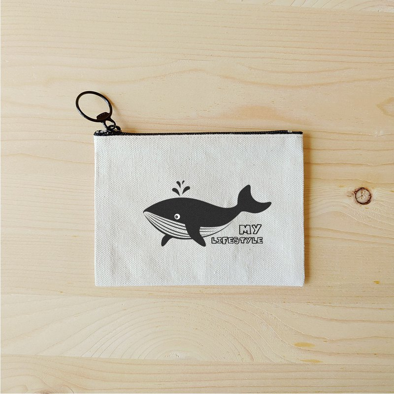 Whale flat small storage bag / change bag thermal transfer