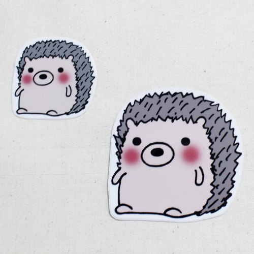 Waterproof stickers (large) _ Little hedgehog 01