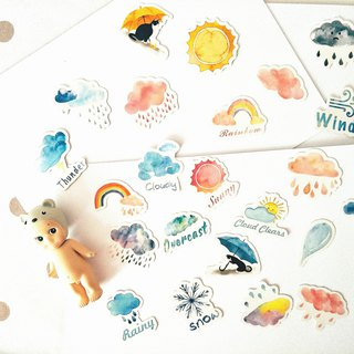 A person's good weather hand account sticker shaped sealing stickers boxed stickers 46 pieces into