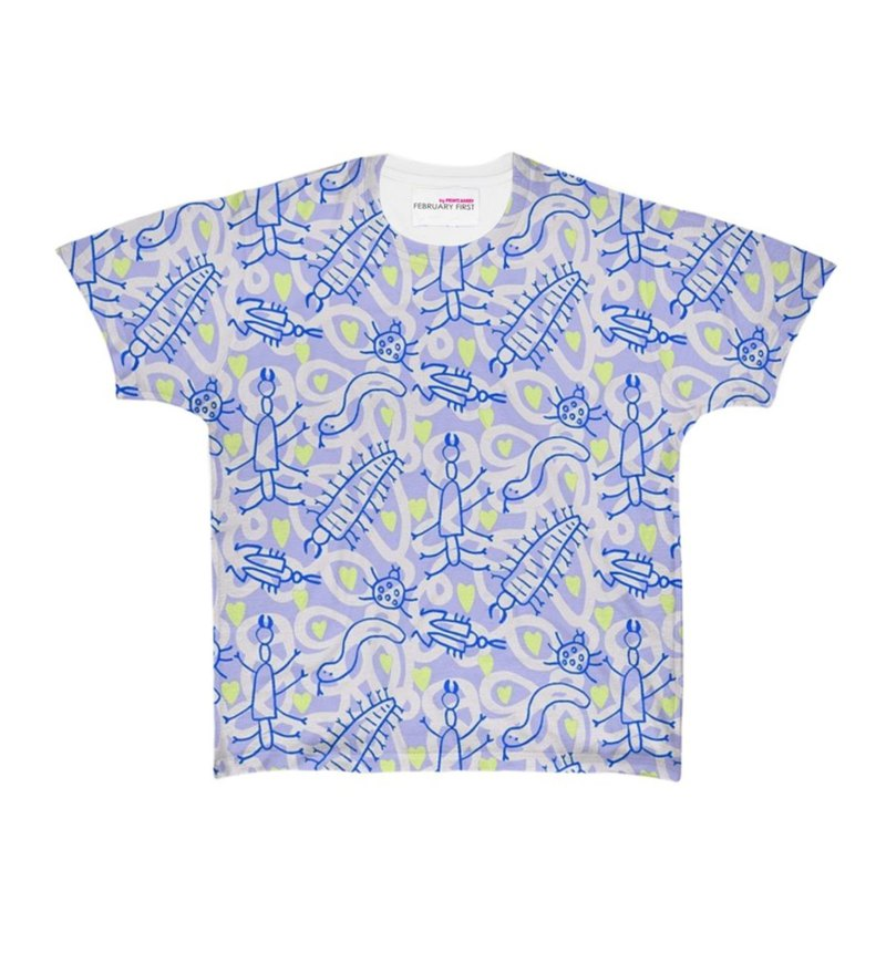 Blue bugs t-shirt by PRINTS.HARRY