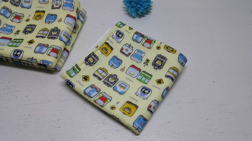 The train ran quickly double gauze handkerchief towel bibs absorbent towel