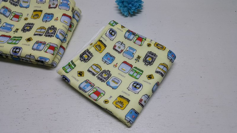 Train fast running double yarn handkerchief towel saliva towel absorbent towel