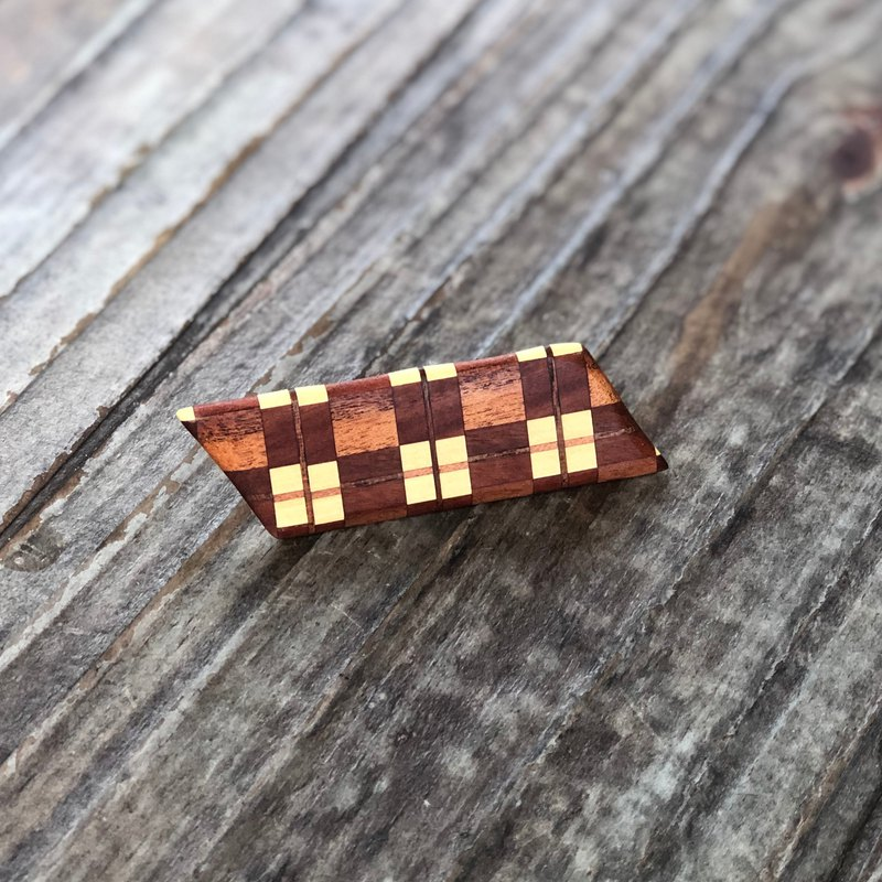 Wooden Hair Clip / Wood Clip / Parquet / Sent Wood / Pattern / Parallel