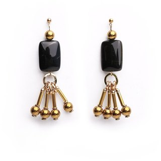 Statement Beekah Earrings - Handmade in worn gold