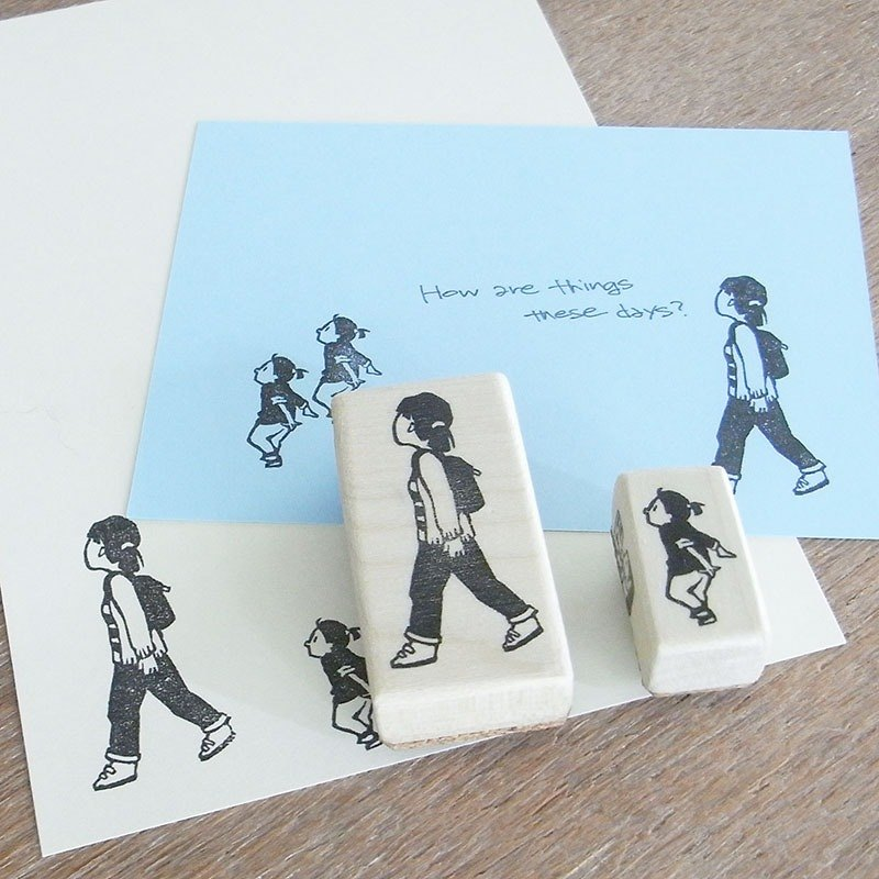 "Handmade rubber stamp ""Walk"""