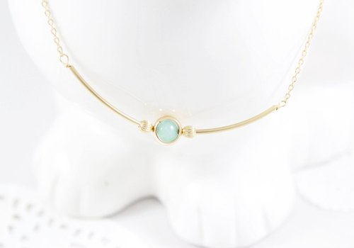Fresh ocean aquamarine necklace