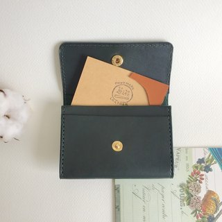 Graduation gift low profile green card holder / business card holder _ leather hand sewing Handmade business card holder