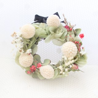 French Green Pastoral Mini Wreath/White Gold Ryukyu Dry Flower Classic Flower Ceremony