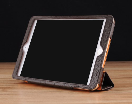 STORYLEATHER build iPad mini 2 & 3 four fold vertical leather case holster