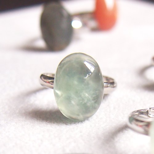 Prehnite [peace] Stone teach adjustable size ring