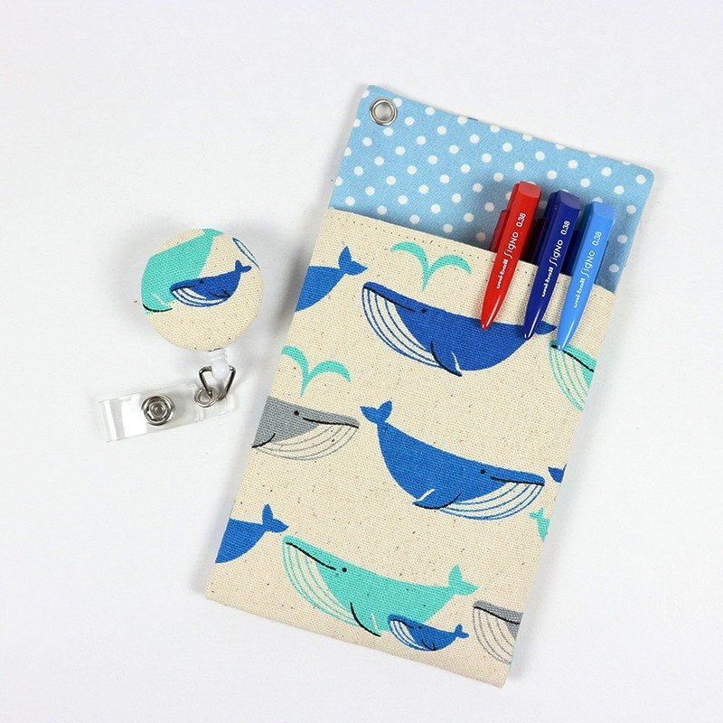 Physician Pocket Pocket Leakproof Ink Storage Bag Pen Bag + Document Clip - Whale (m)