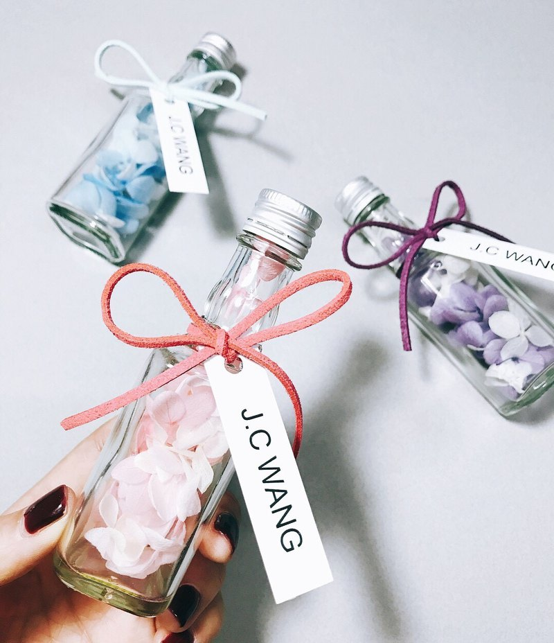 Romantic small bottle eternal hydrangea wedding small bottle CITIC glass bottle healing small things