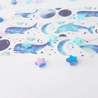 Blue starfish whale paper tape