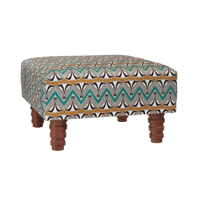 Scottish honey badger dance square chair stool / footstool - earth gold
