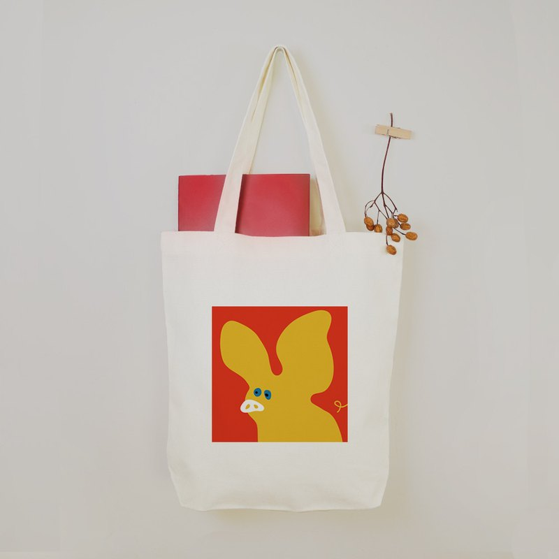 Child - Stylized Pig Cute Animal Canvas Bag