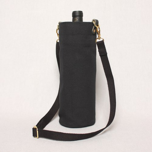 Kettle bag drink bag mug bag wine bag - black / shoulder back