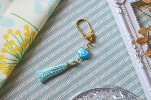 Wisdom Blue - Magic Girl fringed keychain / bag strap