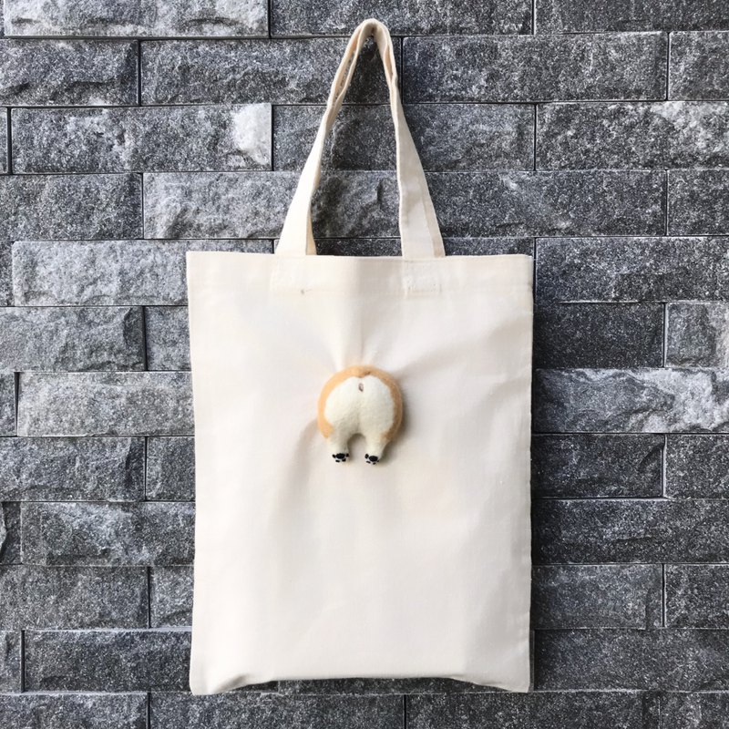 Fat roast chicken ass __ Corgi canvas bag _ Spring special increase canvas bag