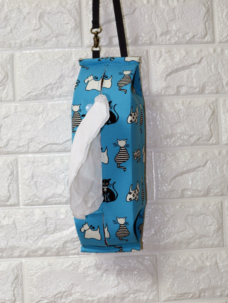 Spotted cat and small black cat can be hung-style movable hook storage bag toilet paper / paper cover*SK*