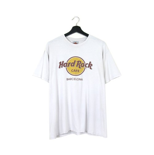 Back to Green :: Hard Rock white and white men and women can wear / / vintage t-shirt (T-02)