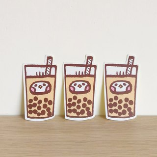 Bubble tea illustration sticker