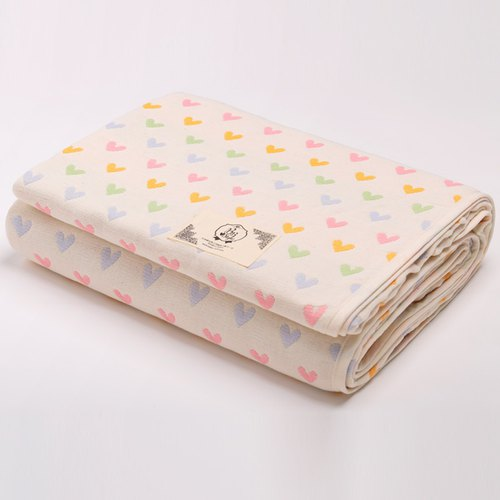 [Made in Japan Sanhe Kapok] Six-gauze quilt cover - Sweet love Macarons L