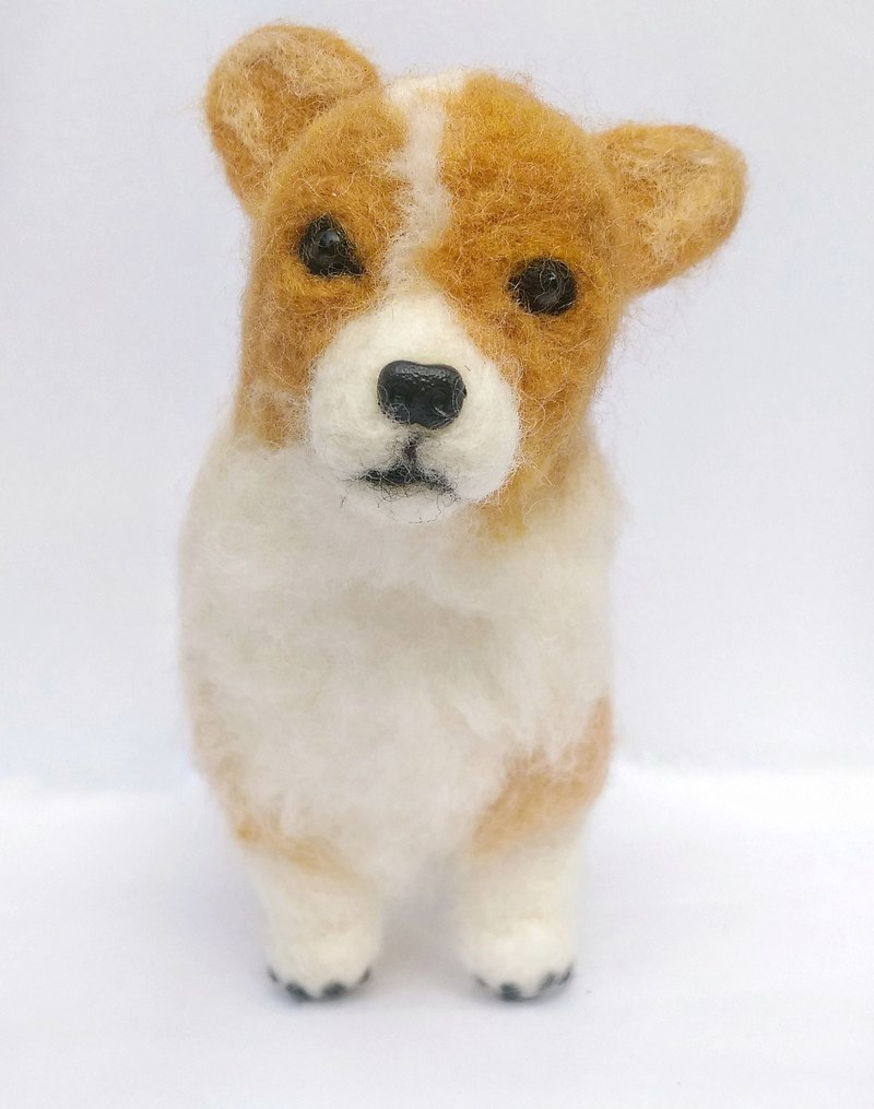 Needle Felt Pet Dog - Corgi Portrait Commemorate (Custom-made)