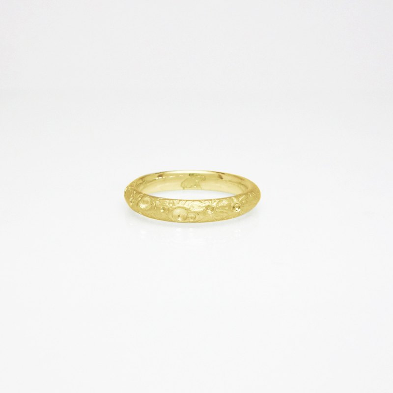 【Lunar Eclipse】 K18 Moon Ring
