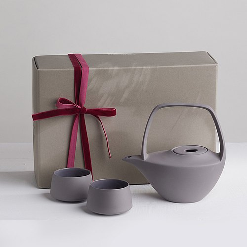 [3, co] water wave beam Pot Gift Set (4 piece) - Ash