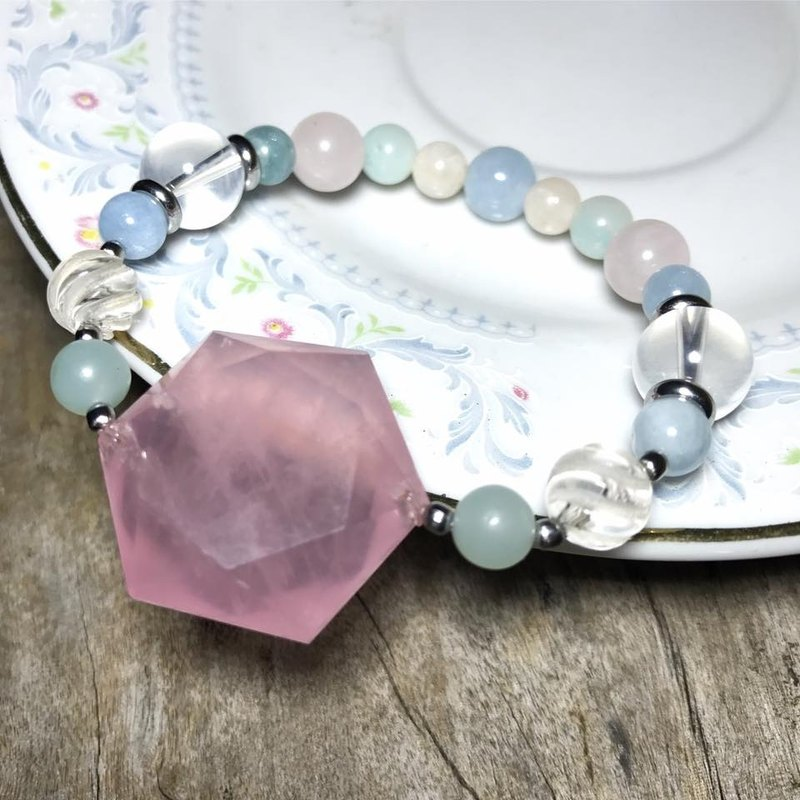 【Lost And Find】Natural Rose Quartz  bracelet
