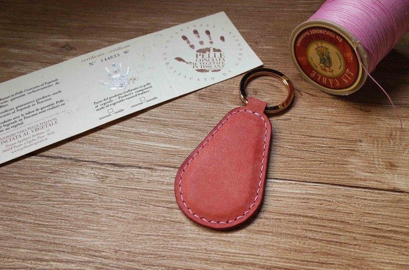 pueblo磨砂皮 悠遊卡晶片吊飾-鑰匙圈B款-粉紅色