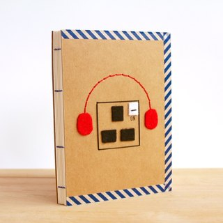 Handmade A6 Notebook - Plug Into 品 (手工缝制小本子 - 品尝生活)