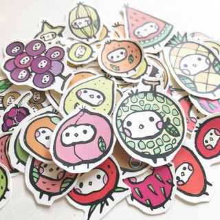 Fruit illustration sticker