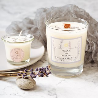 [Stable (Lavender)-Scented Wood Candles] Peace- Taiwan Lavender Woodwick Candle Scented Candles / Home Decorations / Dried Flowers / Birthday Gifts